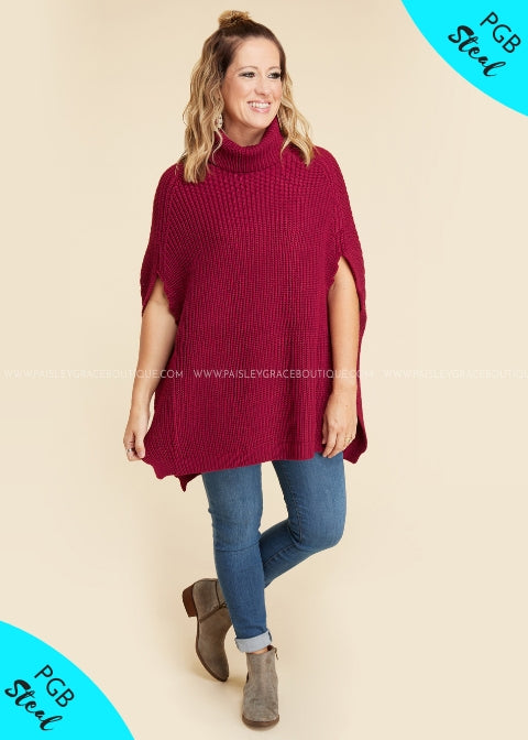 Fall Agenda Poncho- CABERNET - FINAL SALE