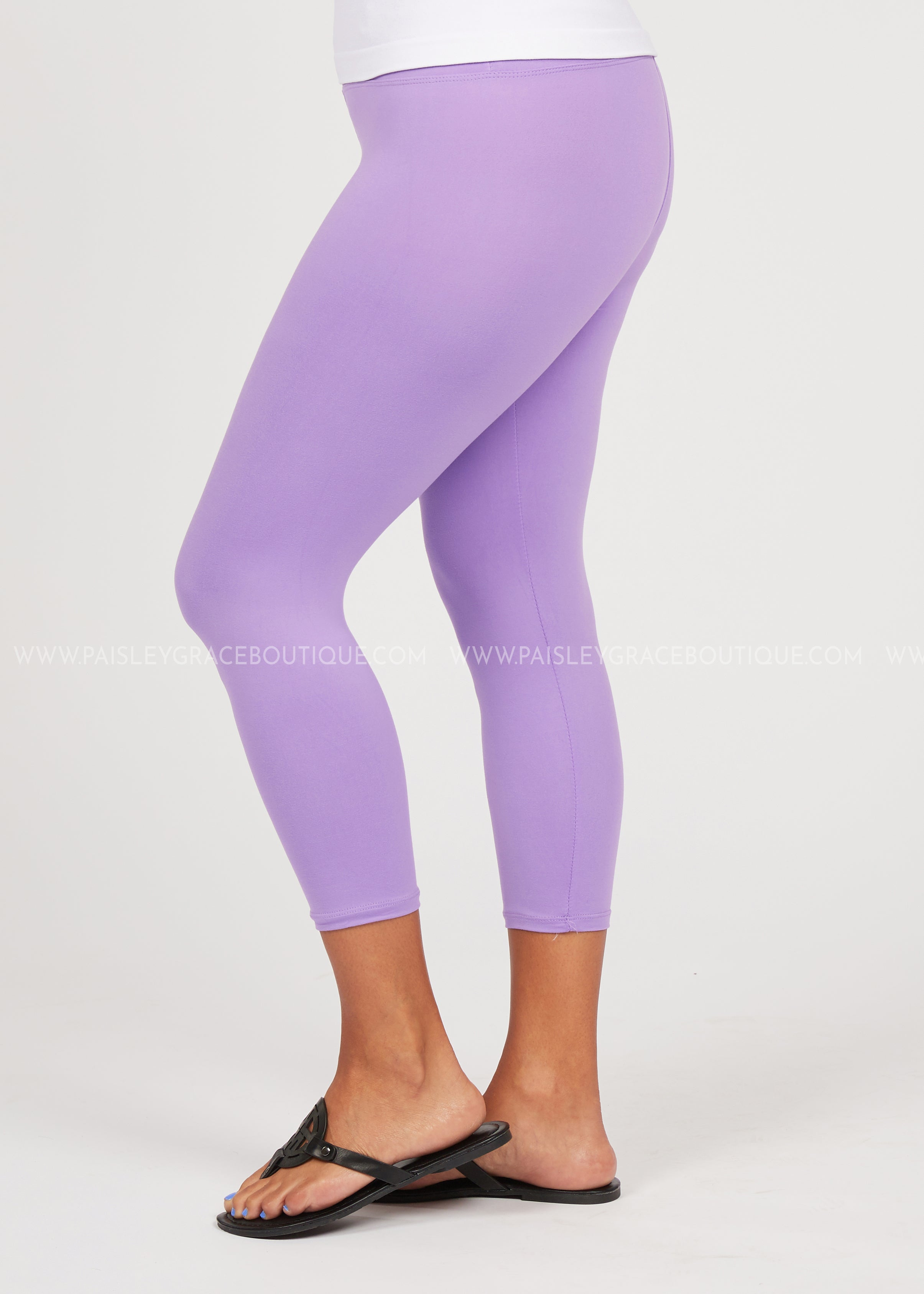 Butter Capri Legging-Reg. or Plus-LILAC