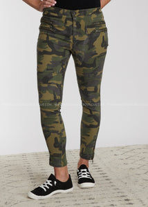 On The Move Camo Pants-OLIVE - FINAL SALE