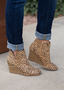 Josey Wedge Booties-LEOPARD - FINAL SALE