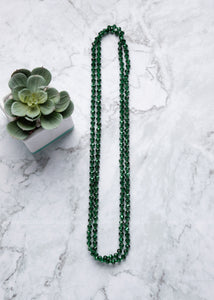 Emerald City Shimmer Strand Necklace  - FINAL SALE