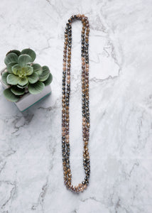 Granite Mix Shimmer Strand Necklace