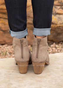 Salta Booties-TAUPE  - FINAL SALE