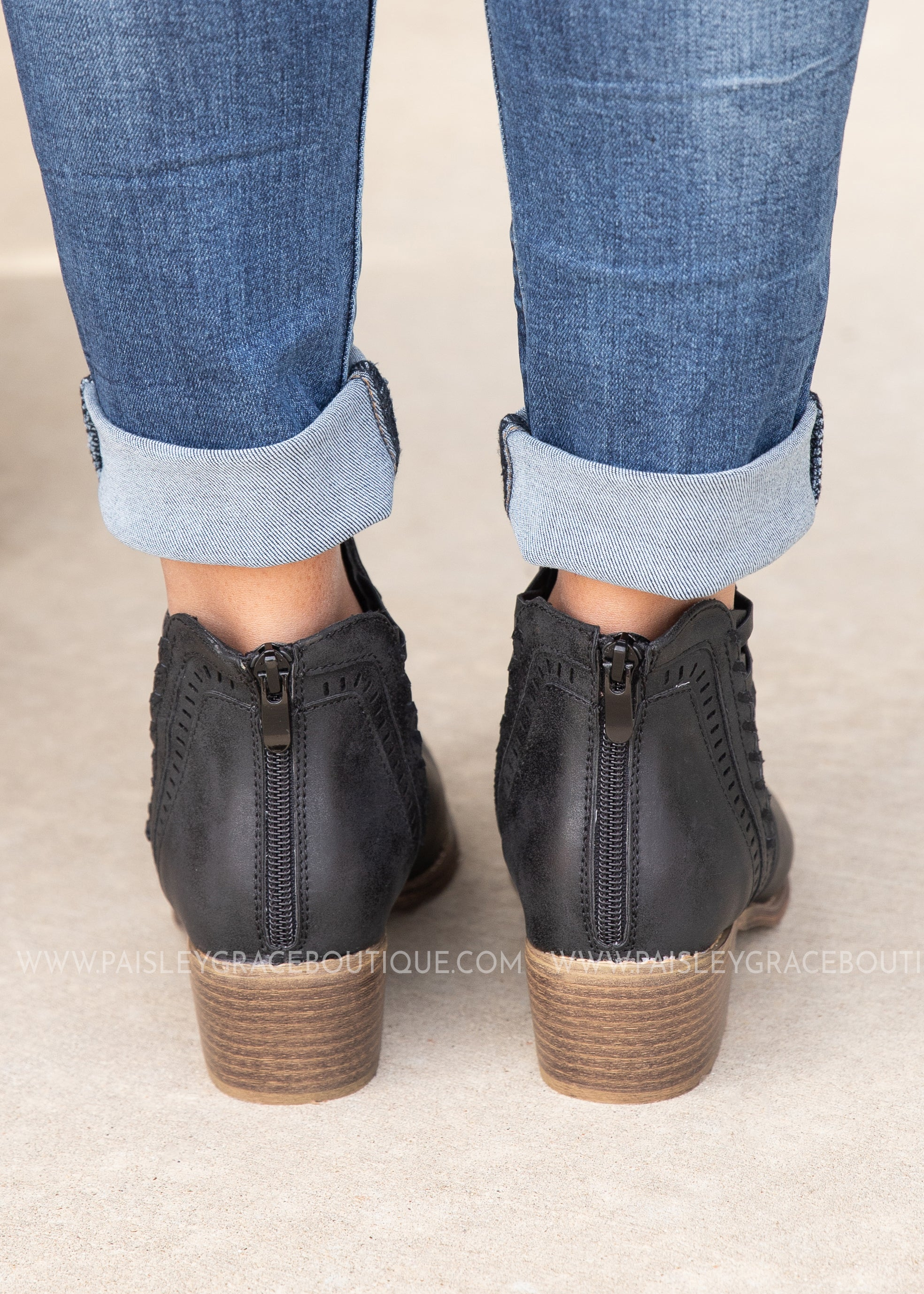 Detailed Bootie by Corkys-BLACK