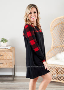 Plaid Bliss Dress  - FINAL SALE
