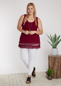 Emory Tunic Extender- BURGUNDY - FINAL SALE