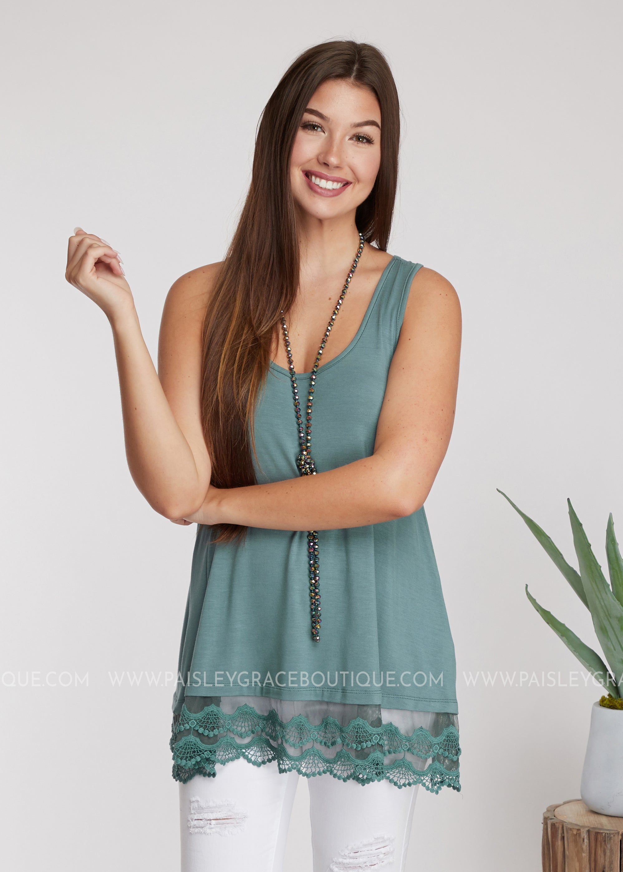 Emory Tunic Extender- ANTIQUE BLUE - FINAL SALE