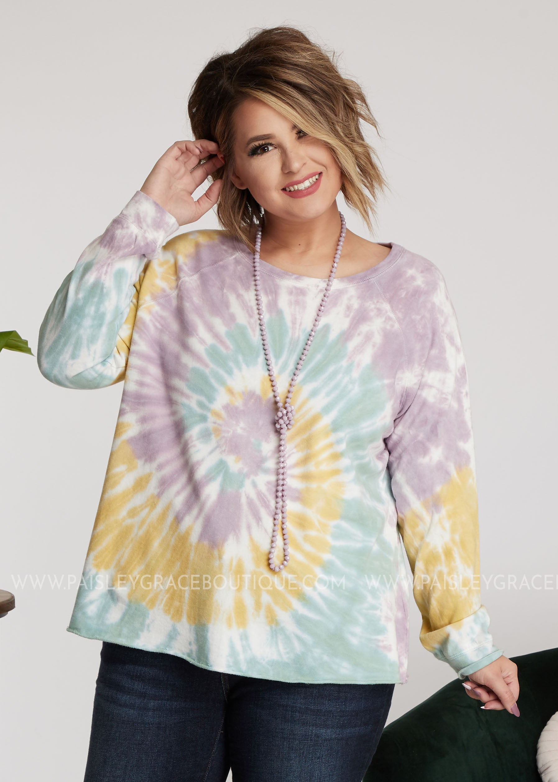 Whirled Away Pullover