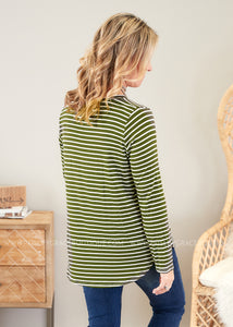 Mackenzie Top- OLIVE - FINAL SALE