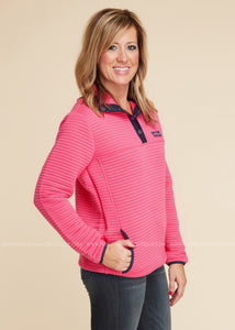 Elizabeth Pullover-PINK By Simply Southern - FINAL SALE