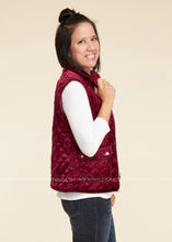 Load image into Gallery viewer, Emerson Velvet Vest- BURGUNDY - FINAL SALE