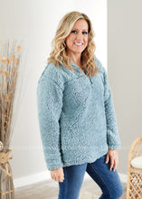 Load image into Gallery viewer, Cabin Fever Sherpa-BLUE GREY