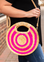 Load image into Gallery viewer, Daphne Straw Purse- Pink - FINAL SALE