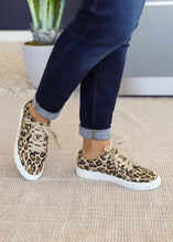 Load image into Gallery viewer, Puzzle Sneaker by Corkys-LEOPARD  - FINAL SALE