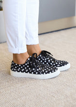 Load image into Gallery viewer, Puzzle Sneaker by Corkys-BLACK POLKA DOT  - FINAL SALE