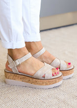 Load image into Gallery viewer, Georgie Wedge Sandal by Corkys-CHAMPAGNE