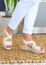 Load image into Gallery viewer, Kimmie Espadrille Wedge by Corkys-GOLD  - FINAL SALE