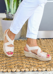 Kimmie Espadrille Wedge by Corkys-GOLD  - FINAL SALE