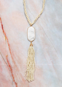 The Perfect Touch Necklace- Cream