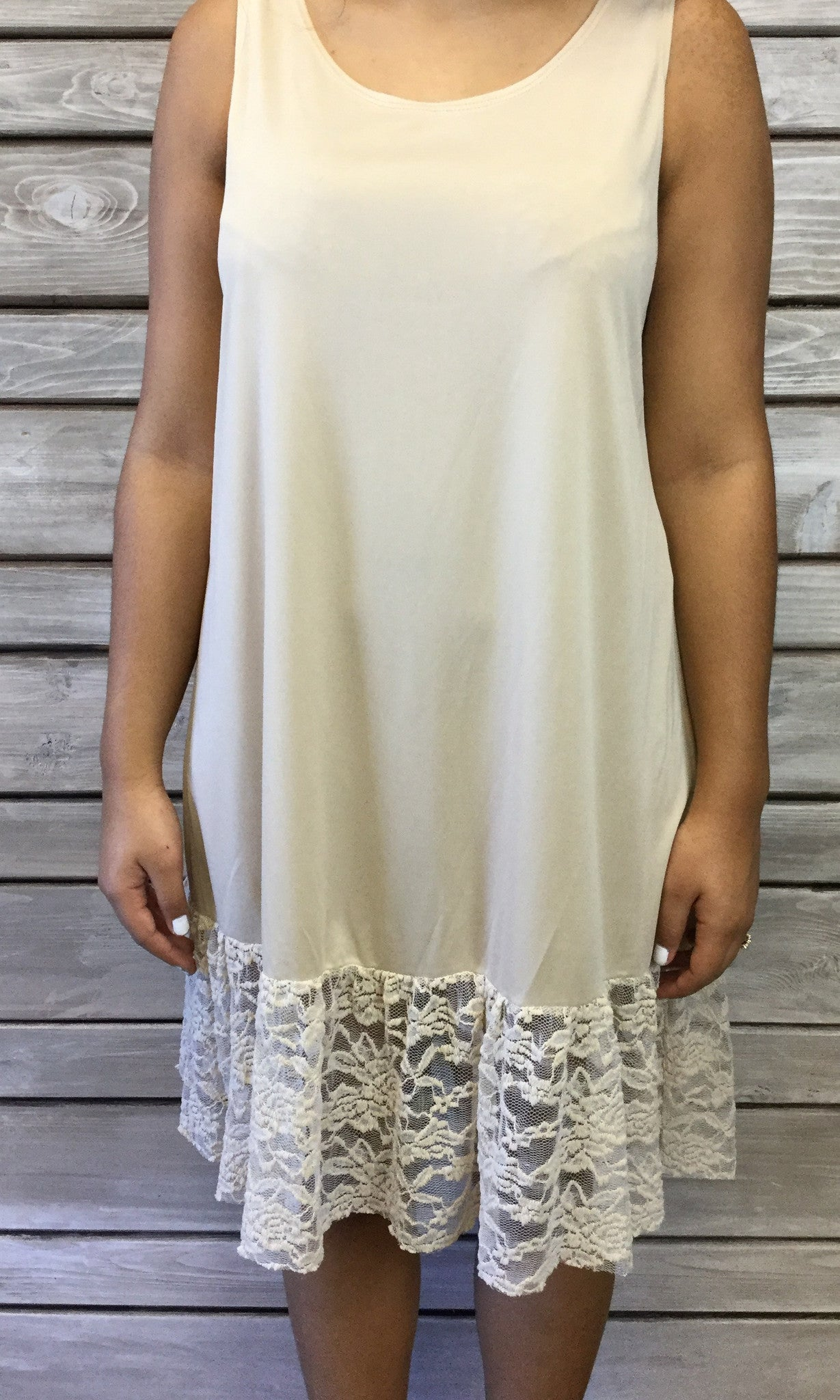 Basic Dress Extender - Taupe/Nude