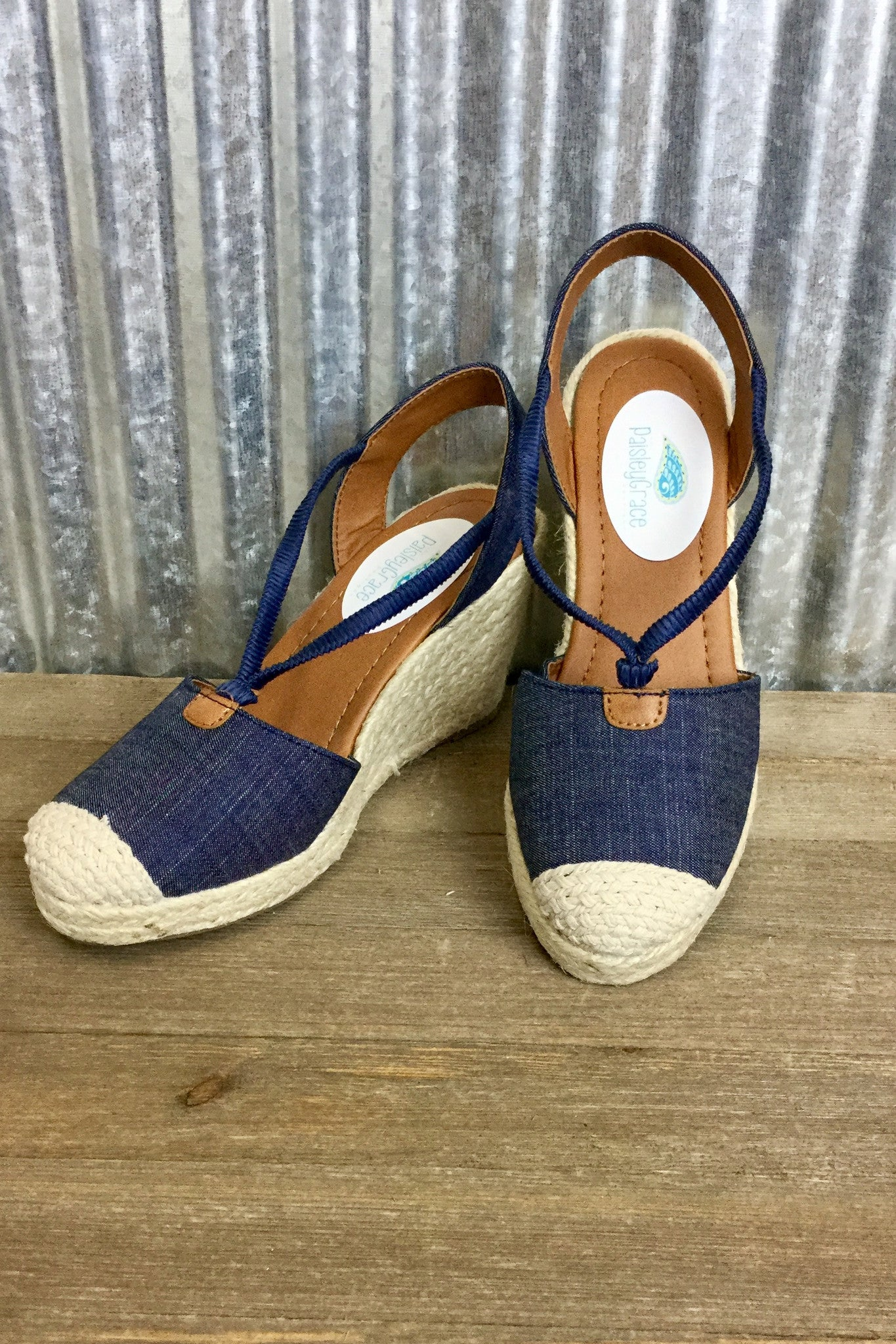 GiGi Espadrille Wedge - Denim