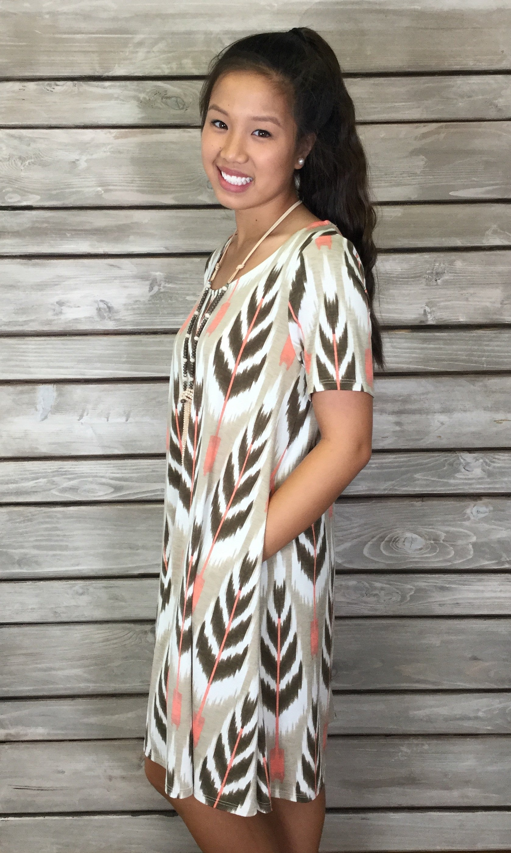 Painted Feather Tunic/Dress