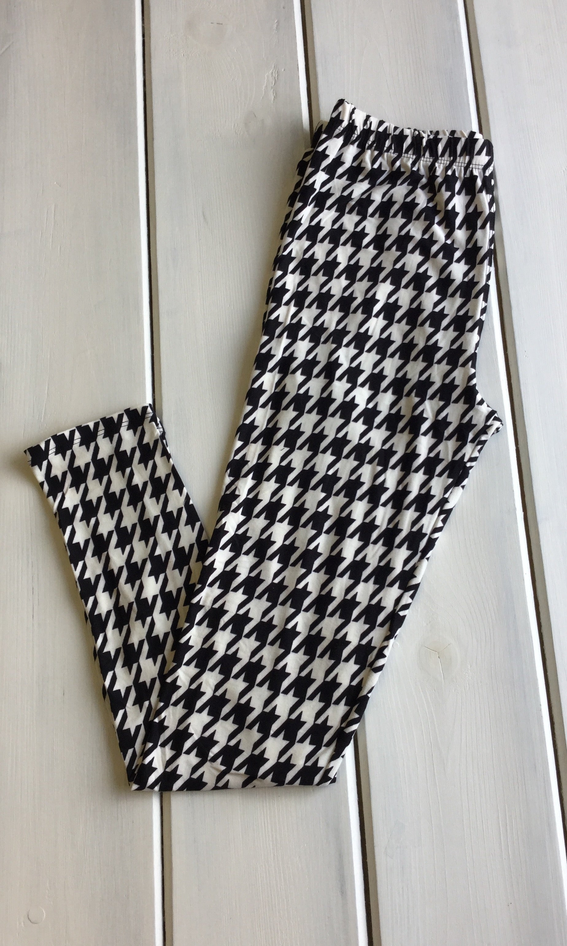 Houndstooth Full Length Leggings - Regular Size Only