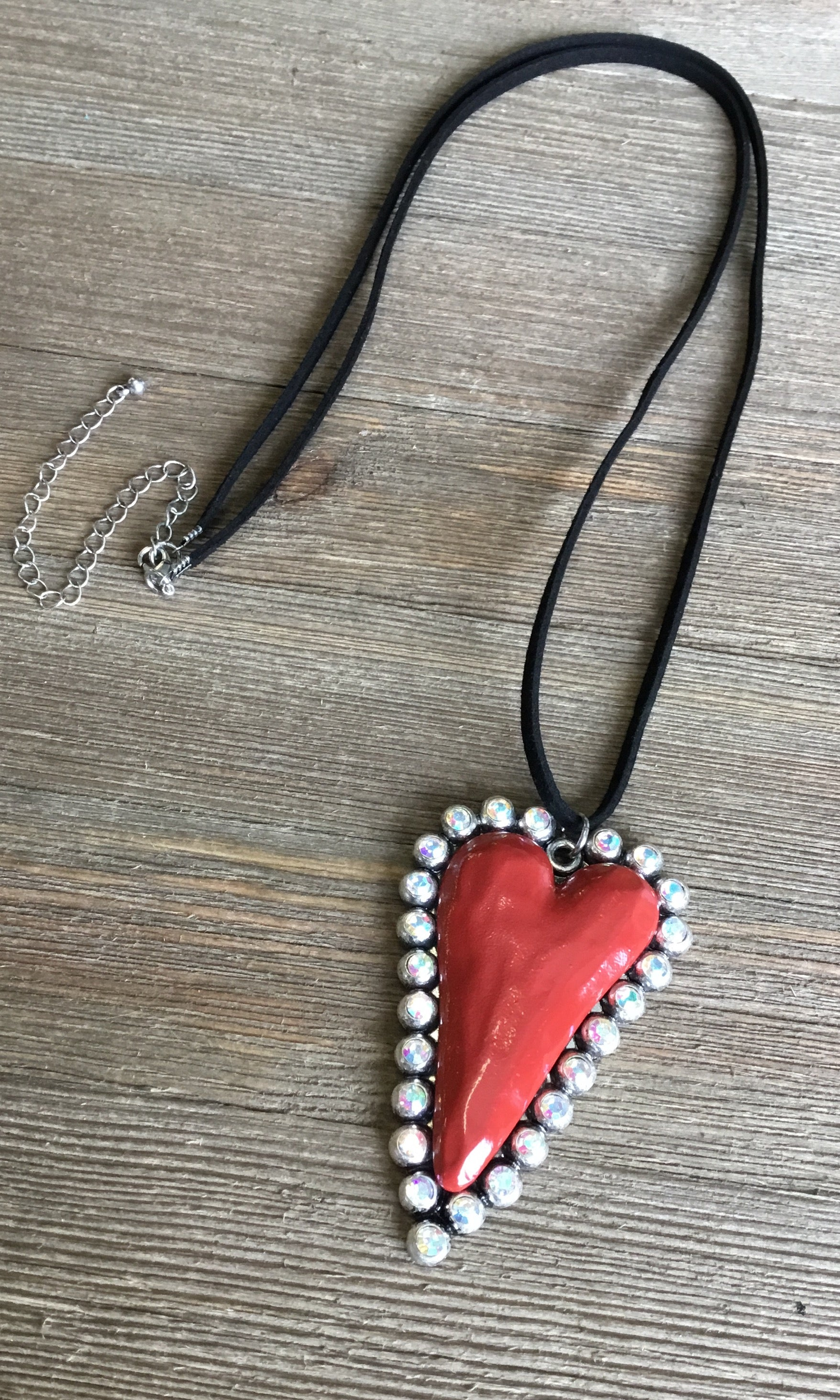 gift heart love girlfriend necklace red her for pin holiday