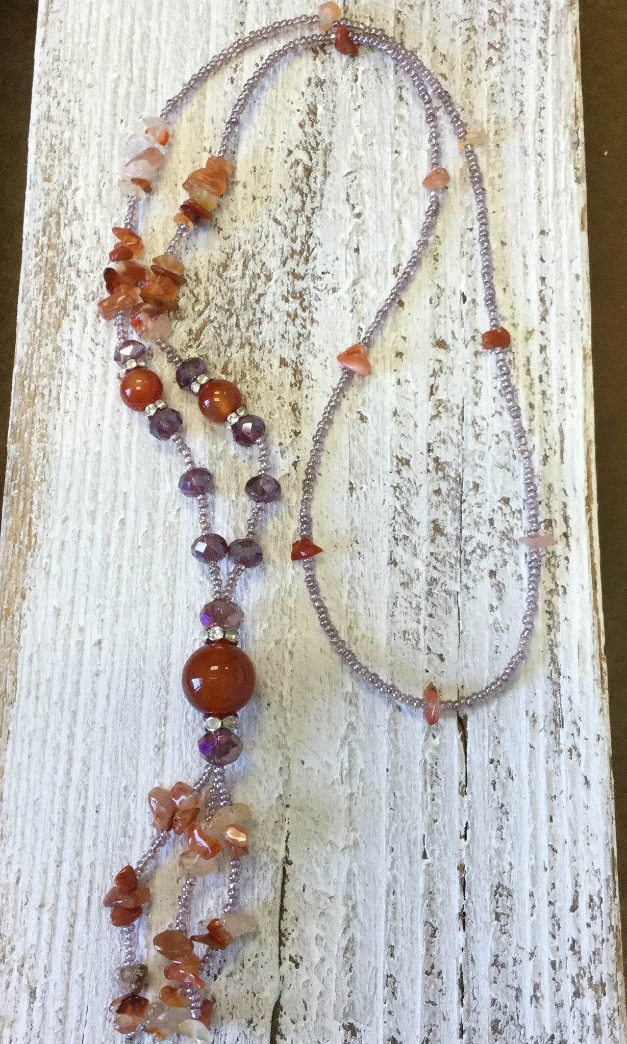 Lavender Seed Bead Necklace