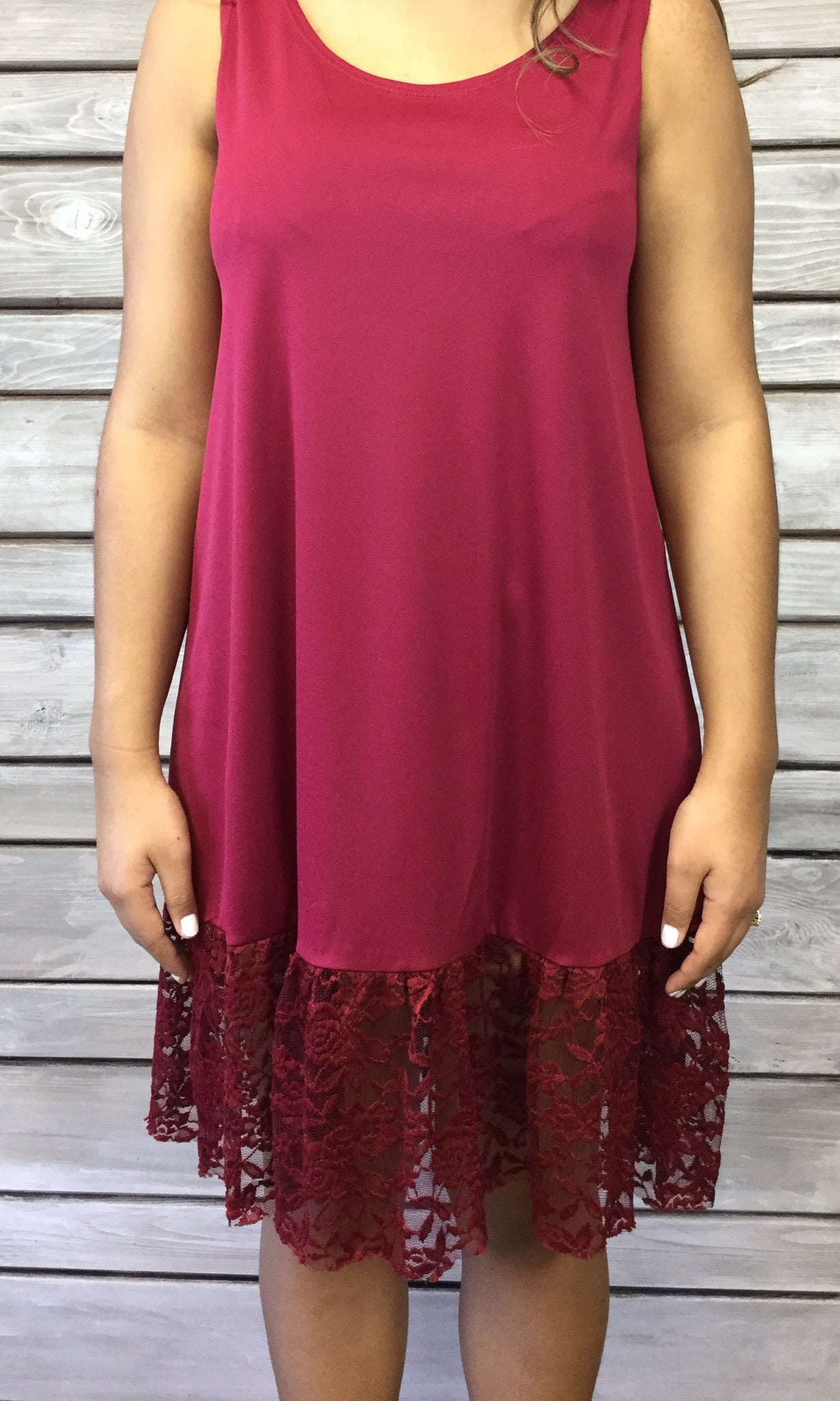 Basic Dress Extender - Burgundy - FINAL SALE