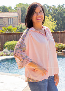 Callie Top- PINK - FINAL SALE