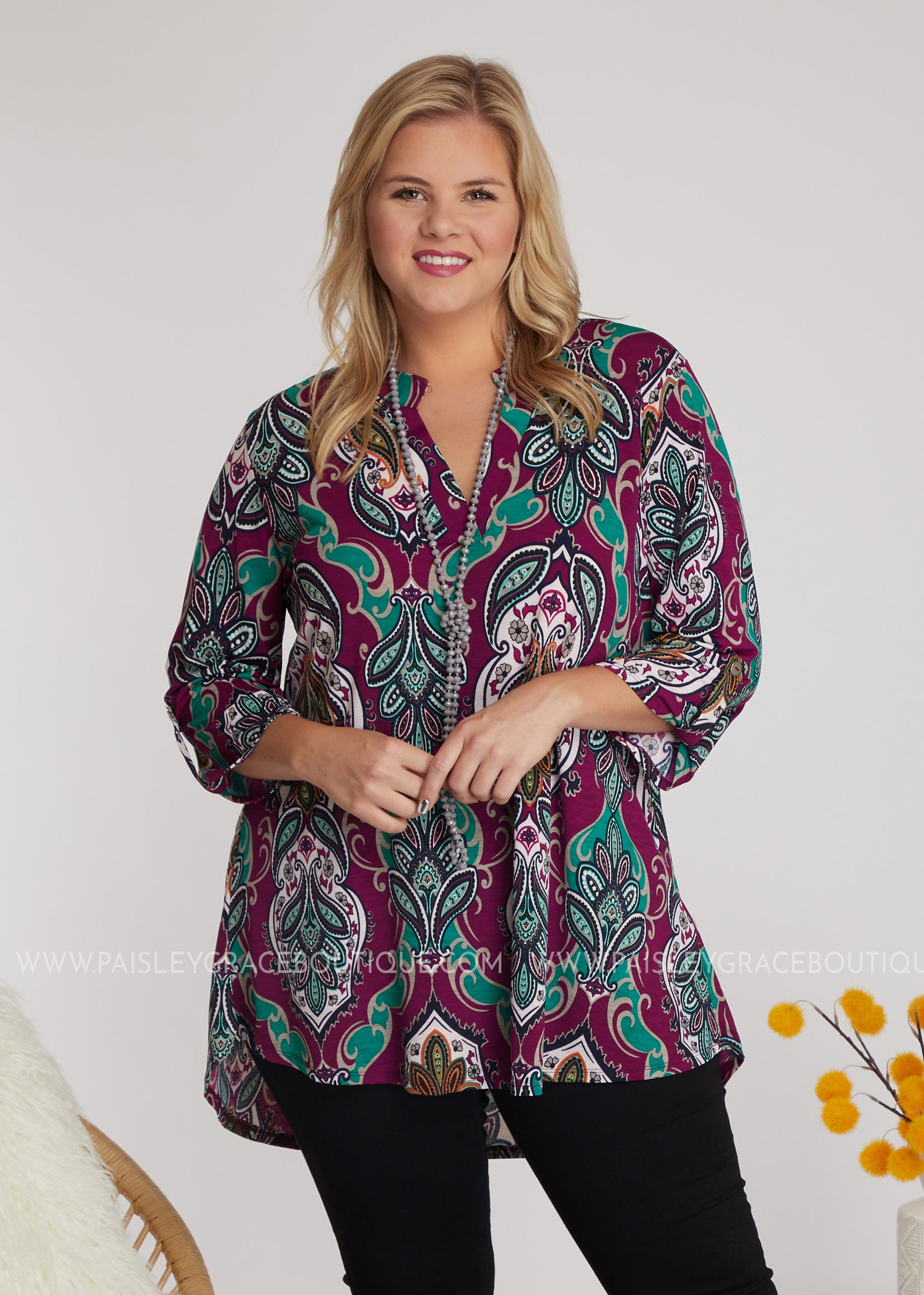 Sangria Swirl Top - FINAL SALE
