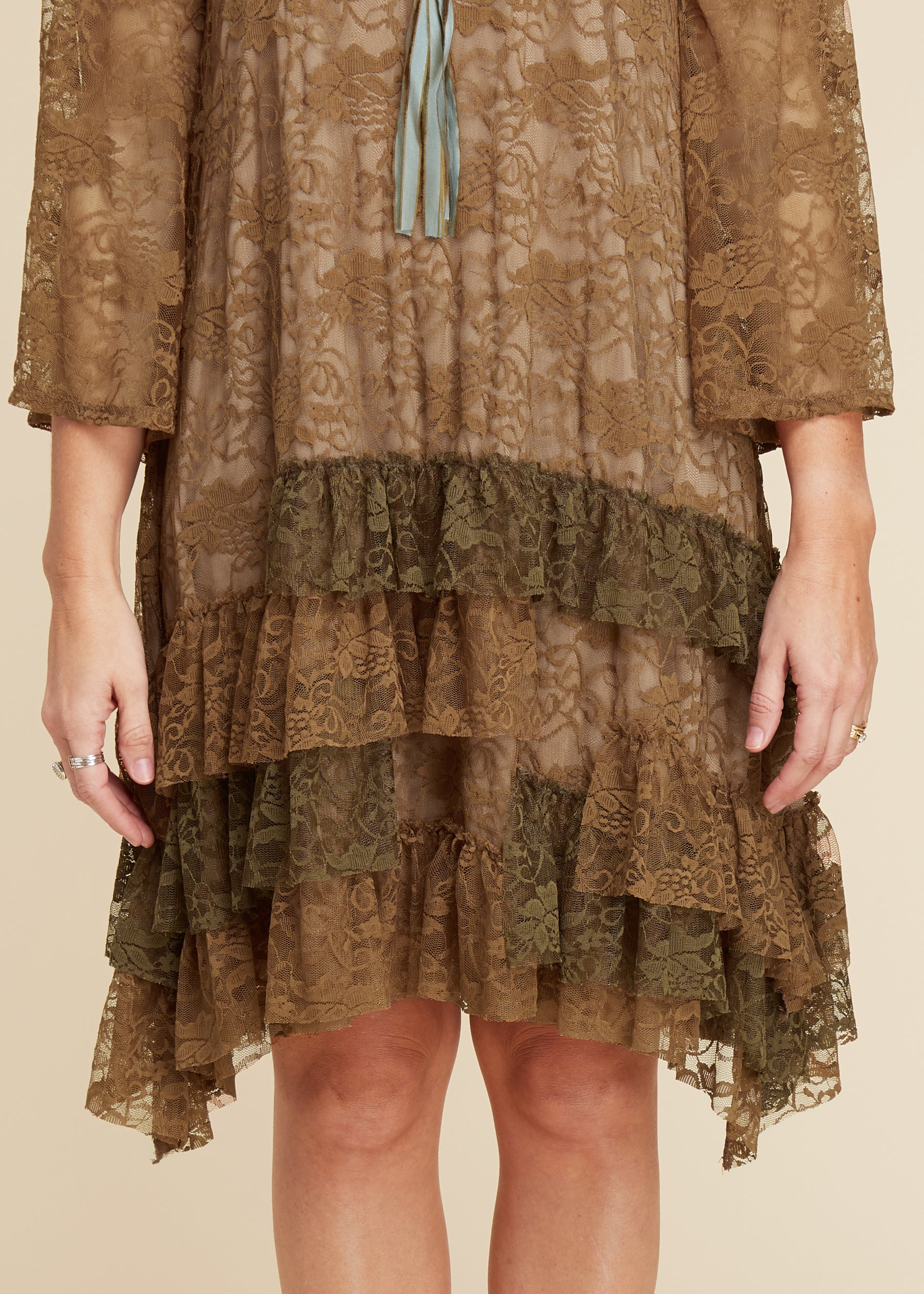 Gemma Lace Dress- Mocha - FINAL SALE