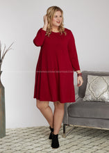 Load image into Gallery viewer, Sloane Dress- BURGUNDY - FINAL SALE
