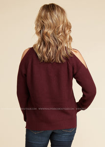 Head Turner- Burgundy - FINAL SALE