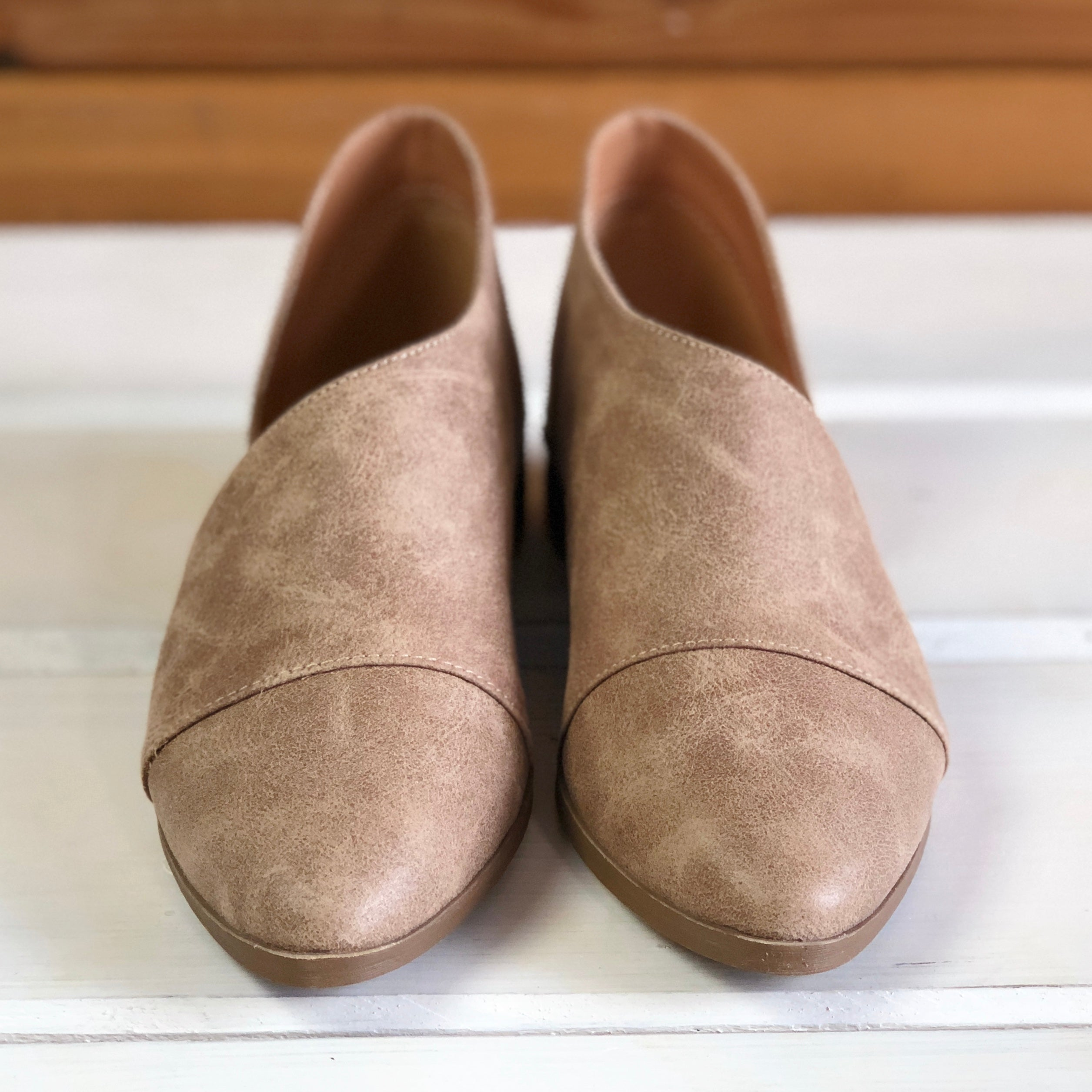 Carter Slip On Low Bootie - Taupe