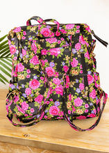 Load image into Gallery viewer, Mackenzie Backpack- Black Floral - FINAL SALE