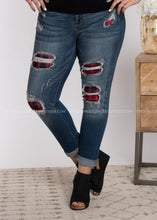 Load image into Gallery viewer, Buffalo Plaid Distressed Jean-RESTOCK