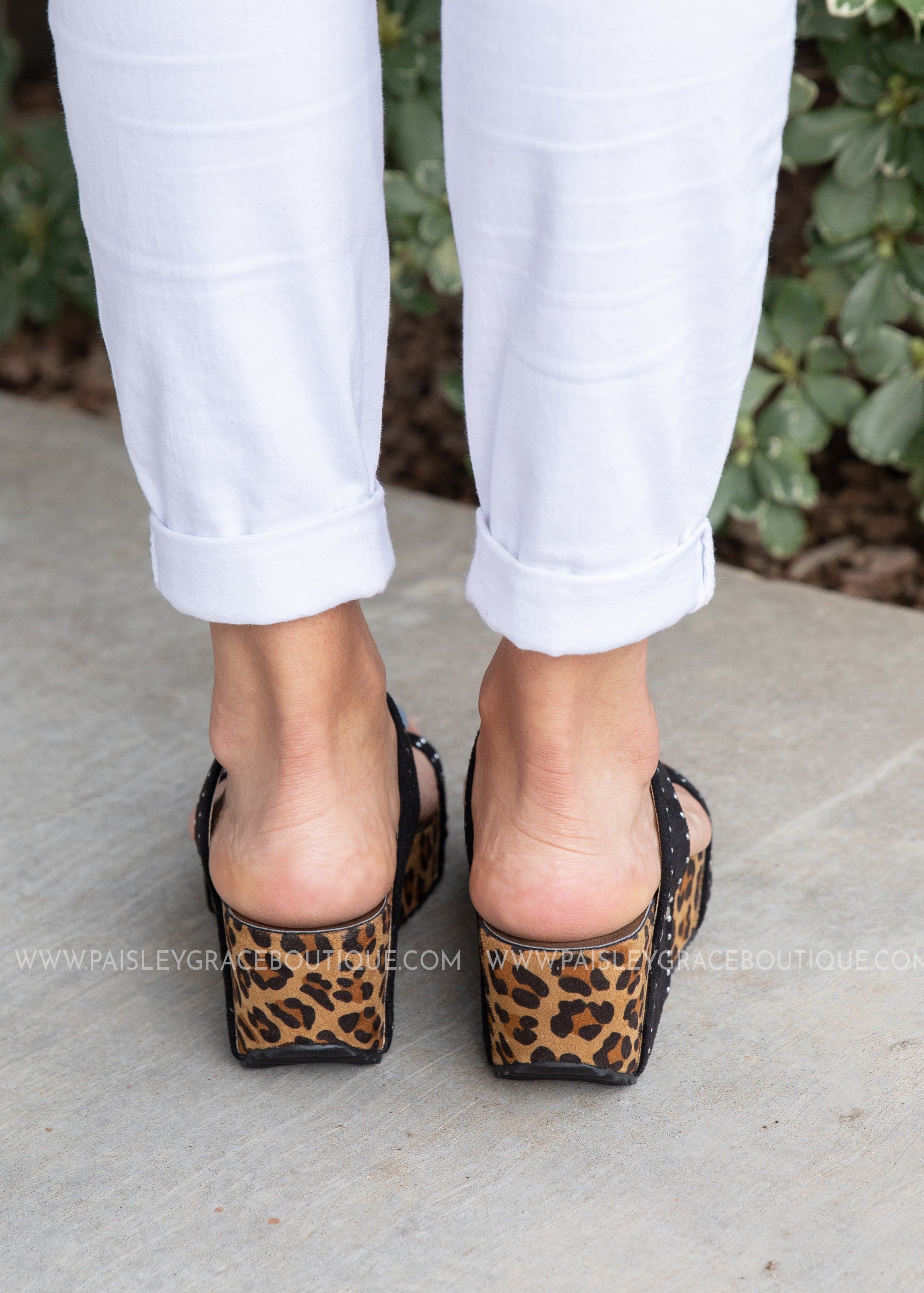 Funkytime Wedge -Leopard by Corkys - FINAL SALE