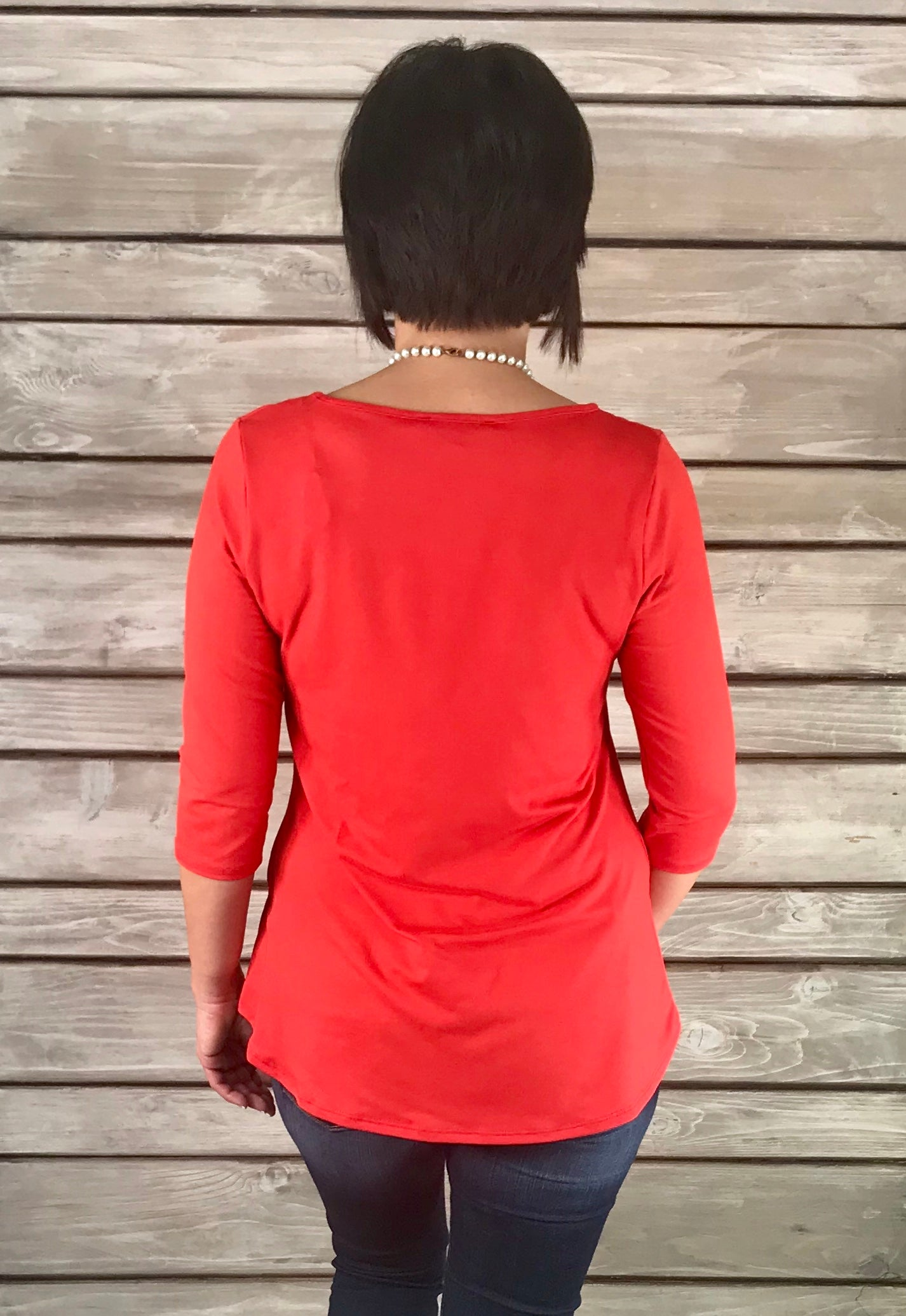 "Devin ""BUTTER SOFT"" Top - RED-FINAL SALE"