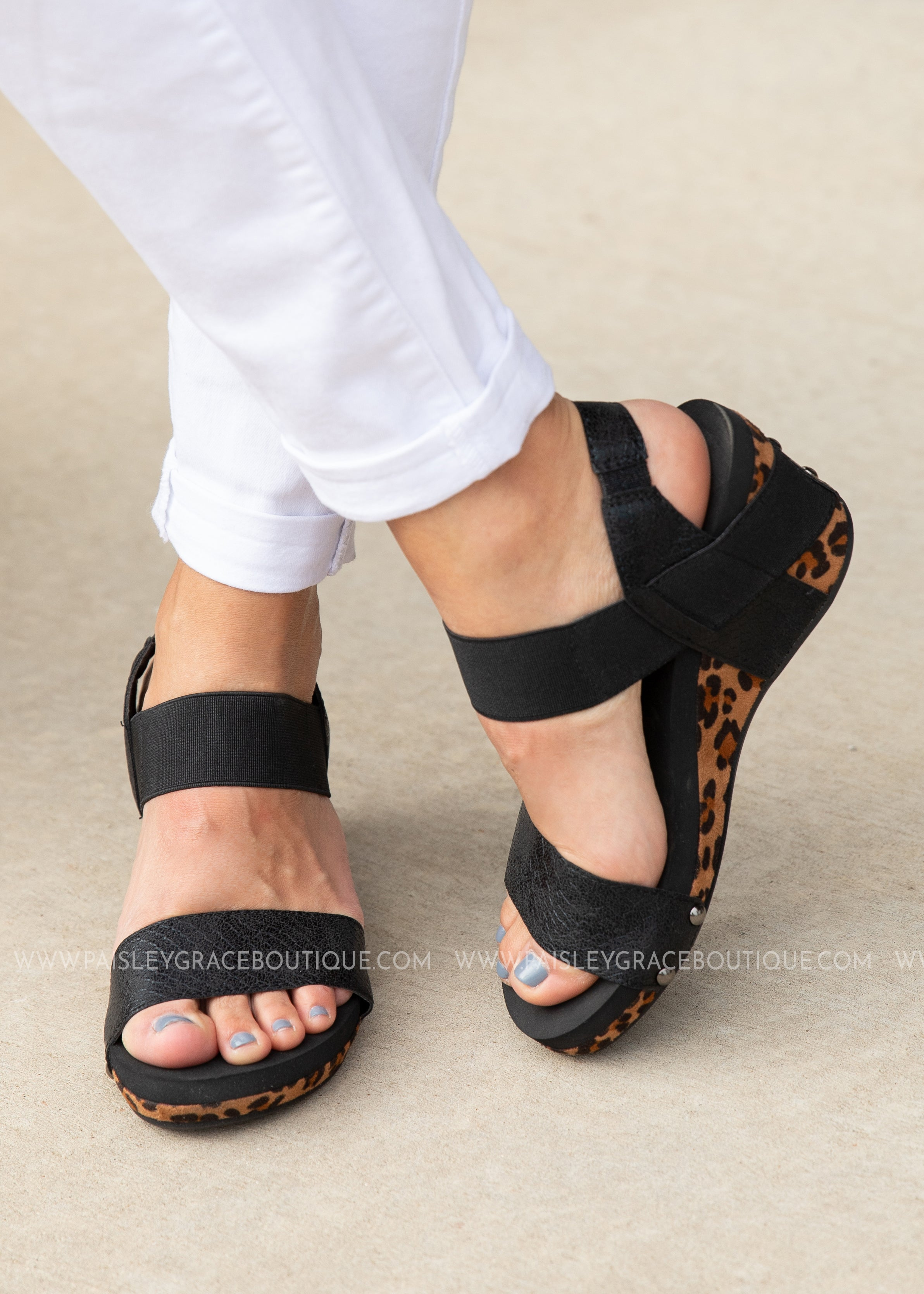 Bandit Wedge by Corkys-LEOPARD