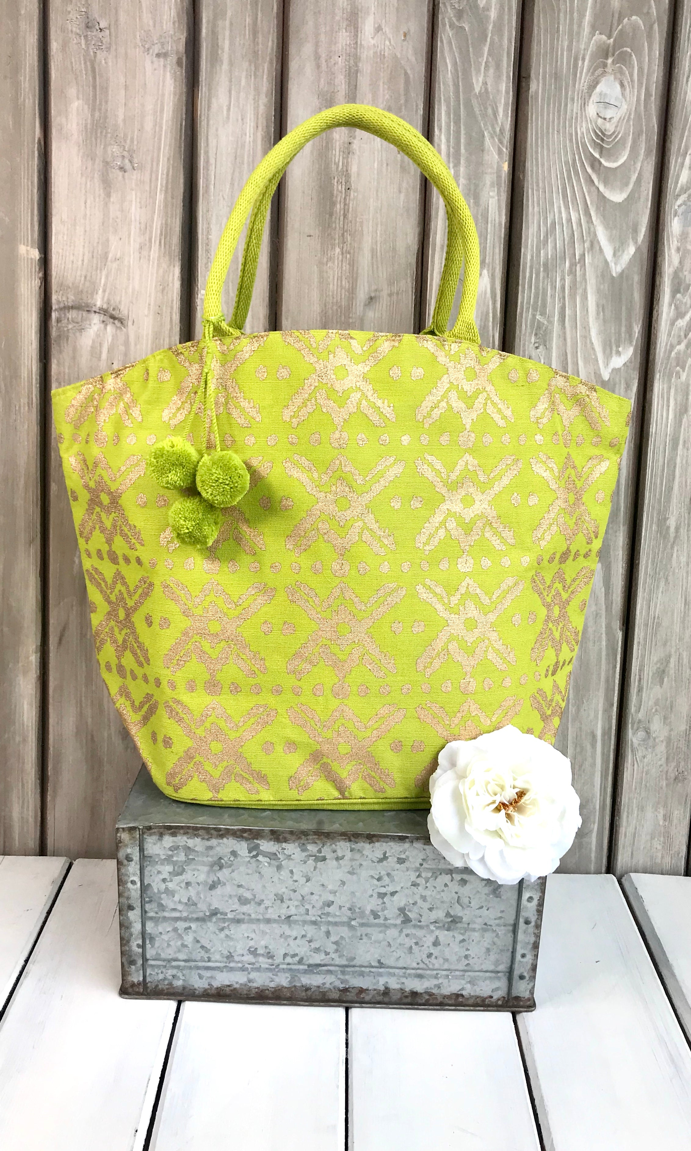 Shimmer Jute Totes