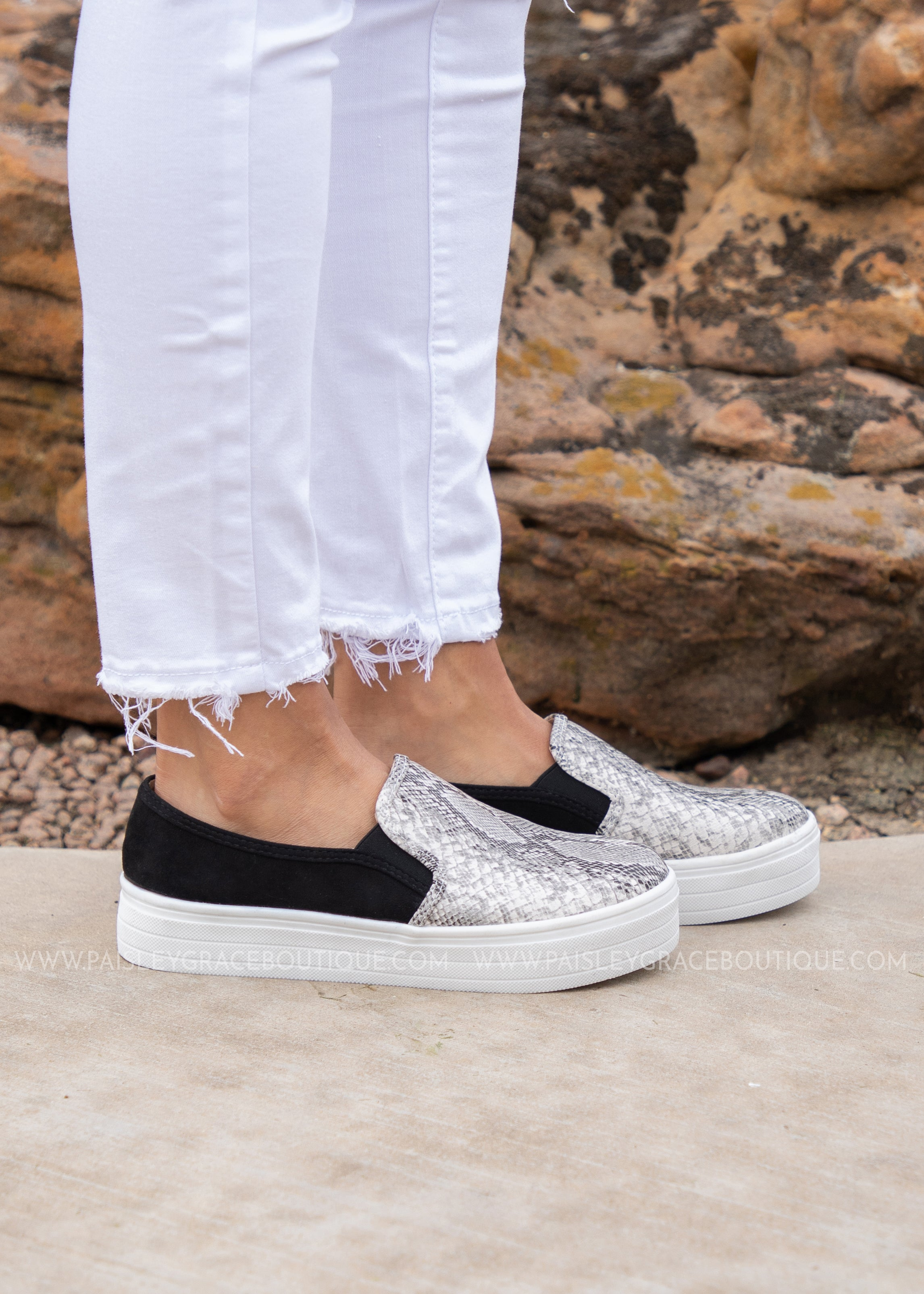 Ellie Slip On Sneaker - SNAKE
