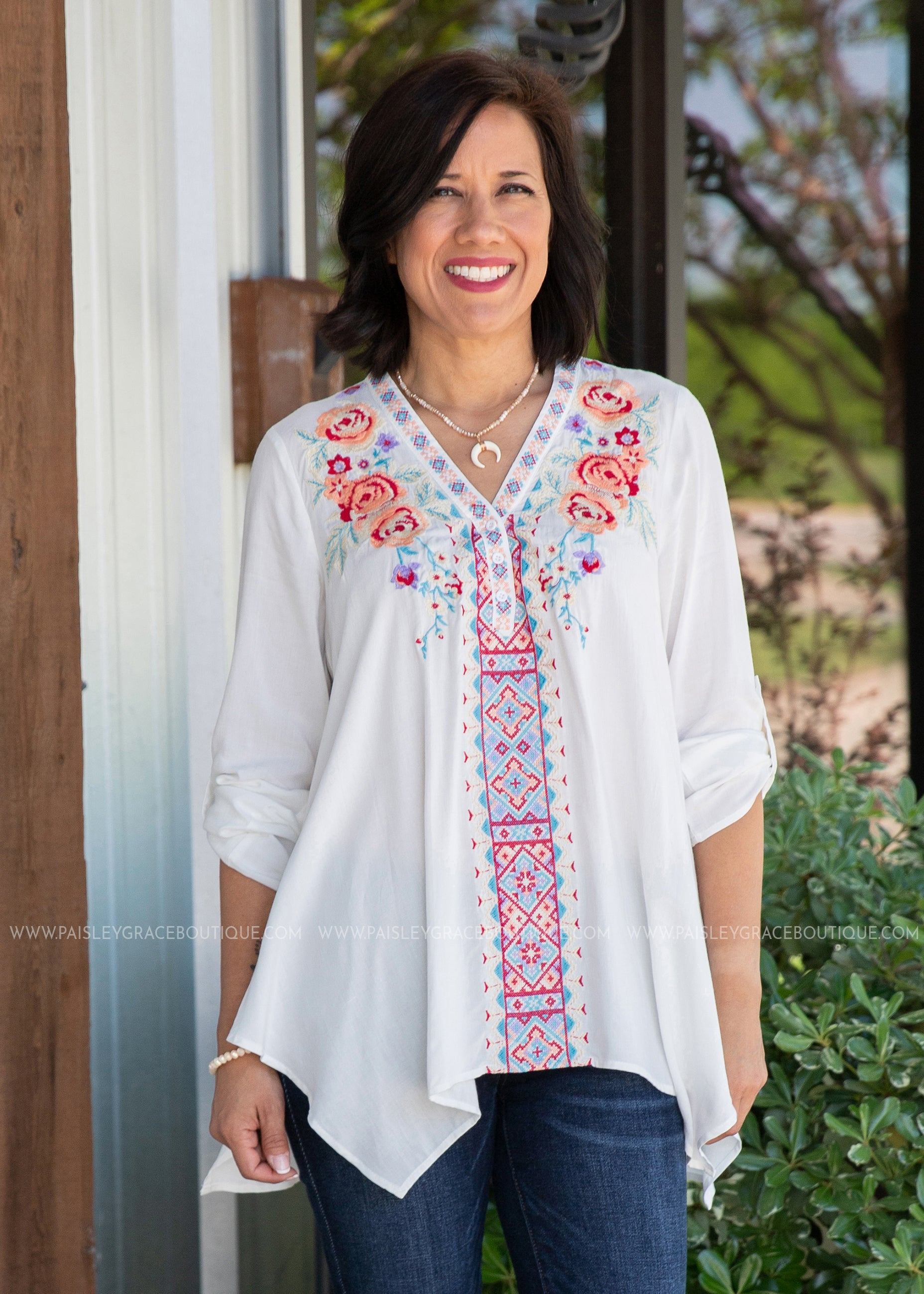 Esme Embroidered Top - FINAL SALE