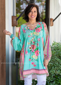 Spark Of Joy Tunic- MINT - FINAL SALE
