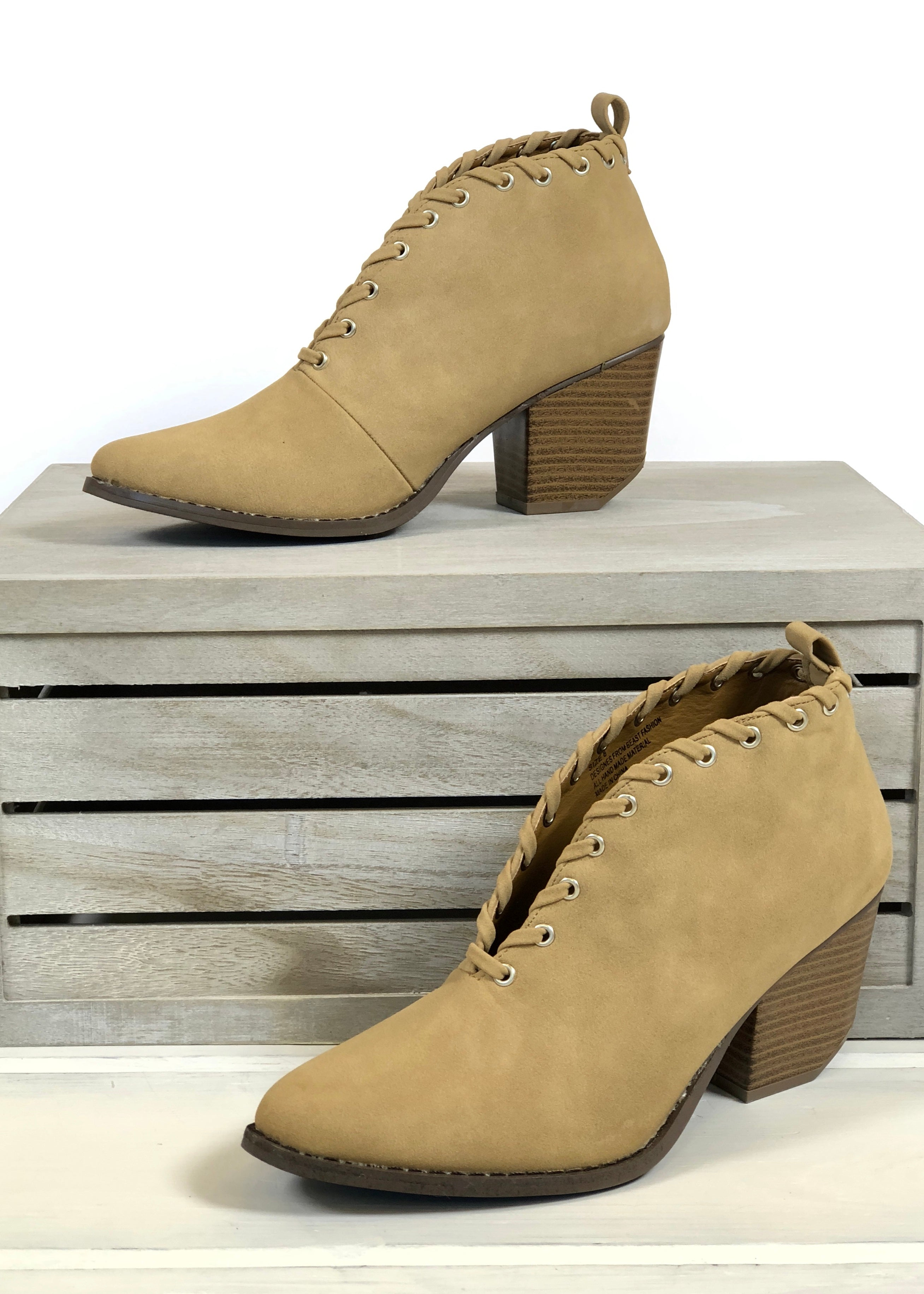 Manhattan Booties - Camel FINAL SALE