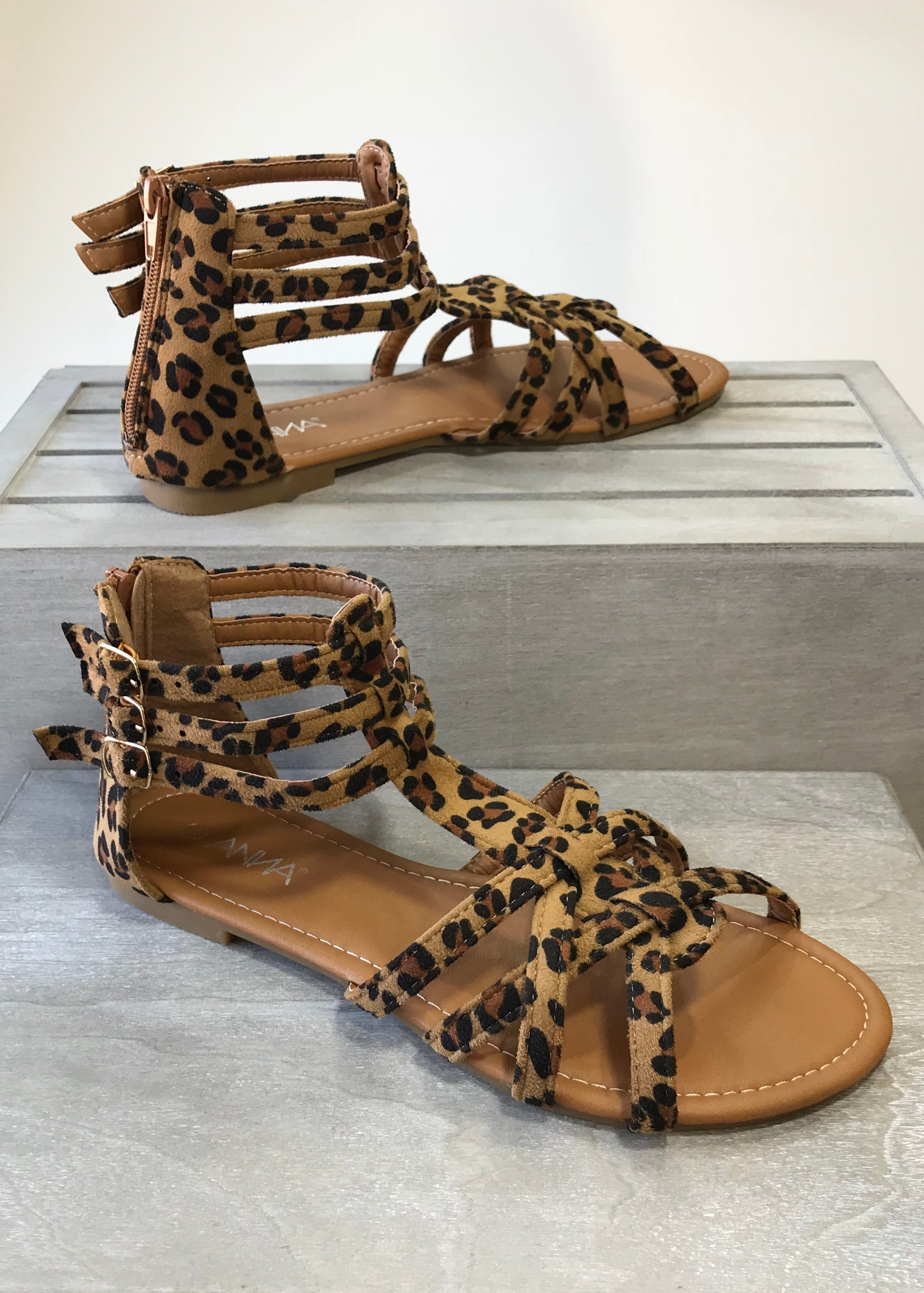 On The Prowl Leopard Sandals - FINAL SALE
