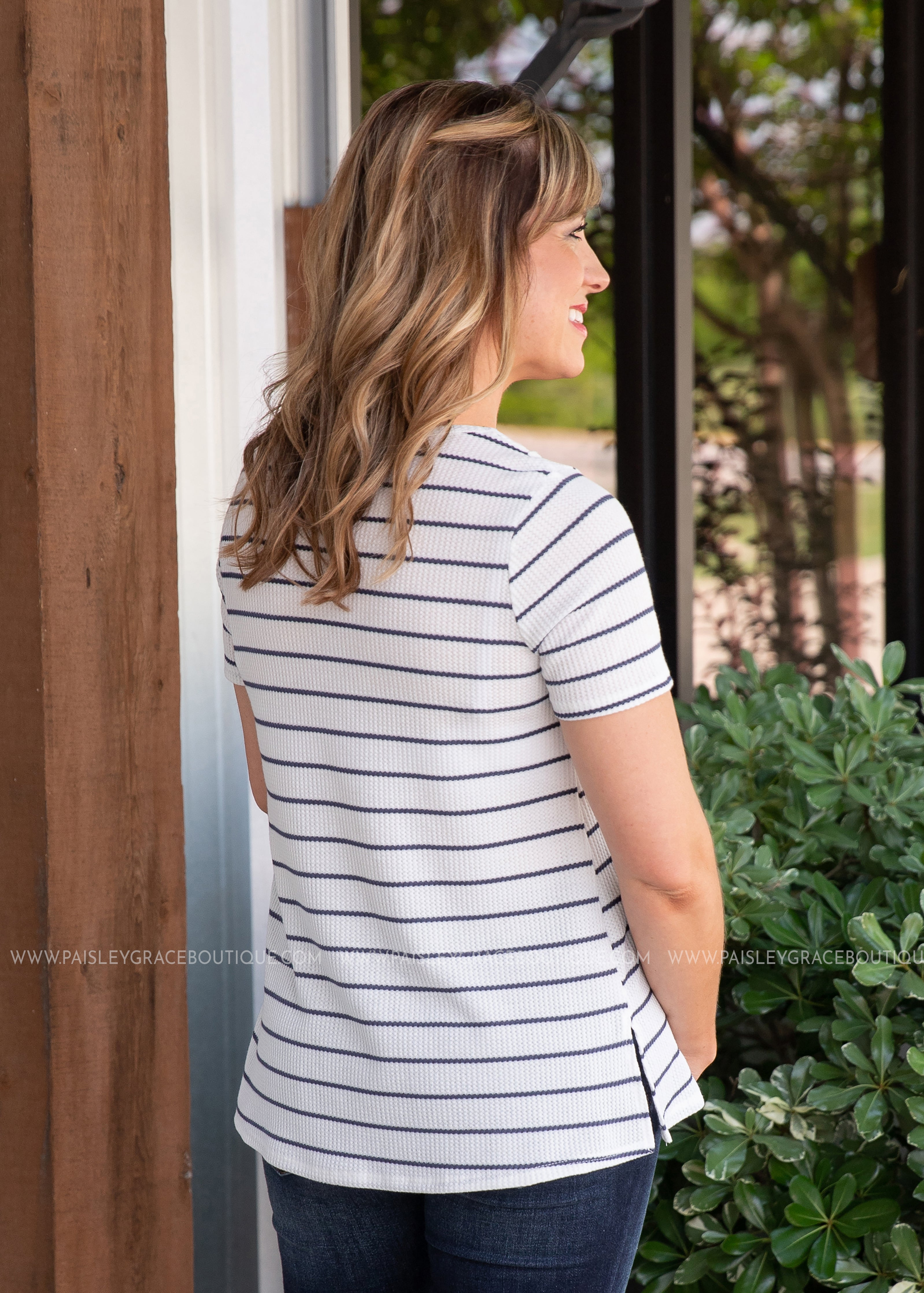 East To West Top- NAVY - FINAL SALE