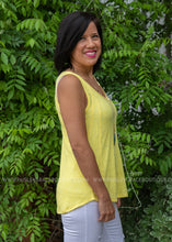 Load image into Gallery viewer, Starburst Tank- YELLOW - FINAL SALE