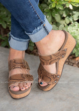 Load image into Gallery viewer, Shaw Wedge by Corkys-BROWN SNAKE